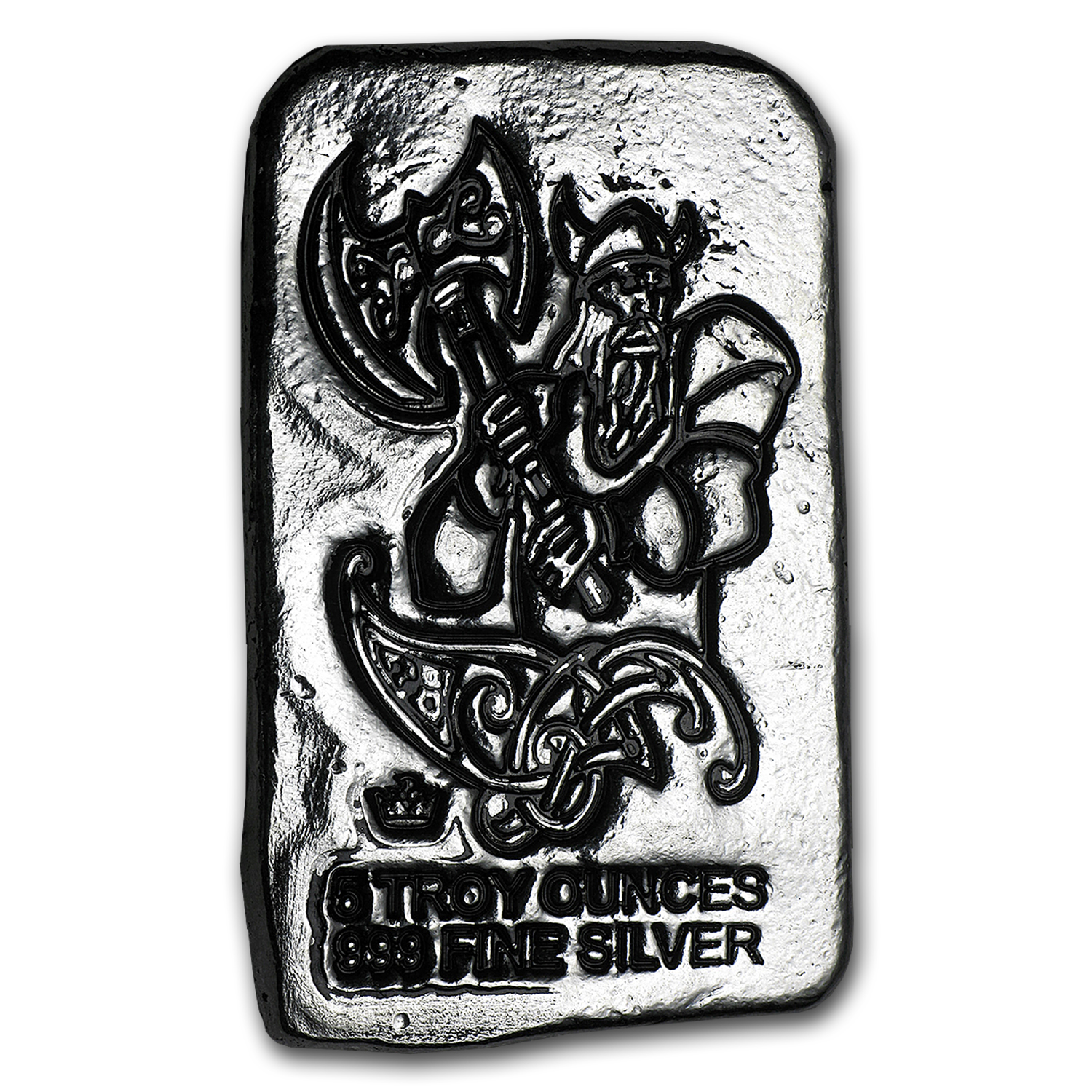 5 oz Silver Bar - Monarch Viking Warrior (Battle Axe)